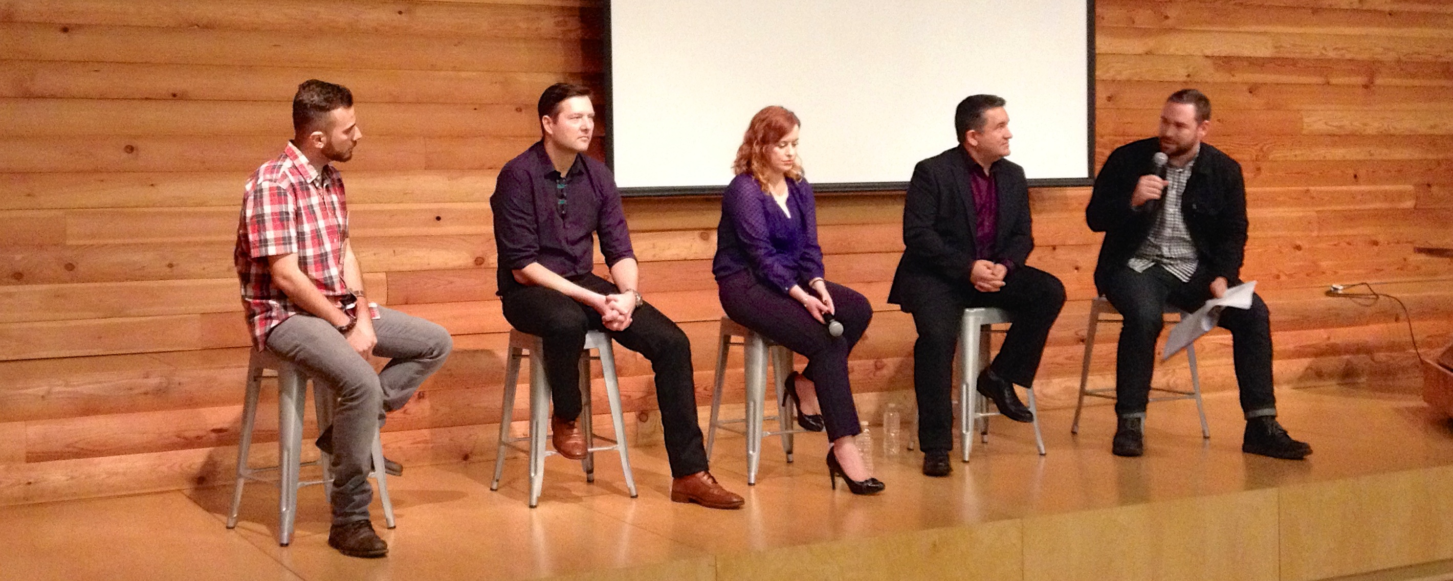 Panelists at the #TellEveryone event in Vancouver