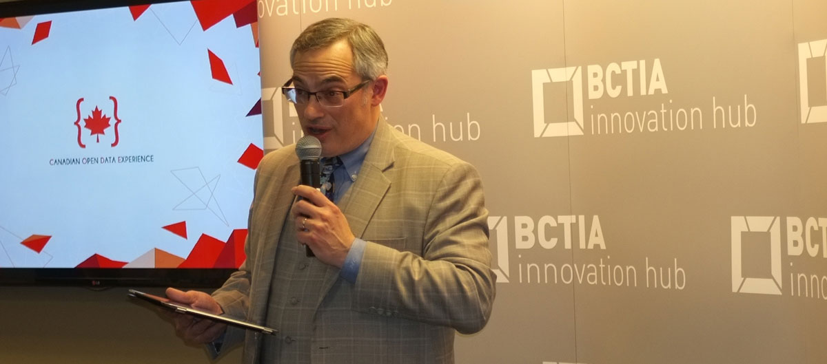 Minister Tony Clement at the CODE road show