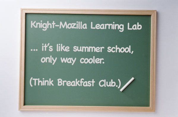 Knight-Mozilla Learning Lab. It's like summer school, only way cooler
