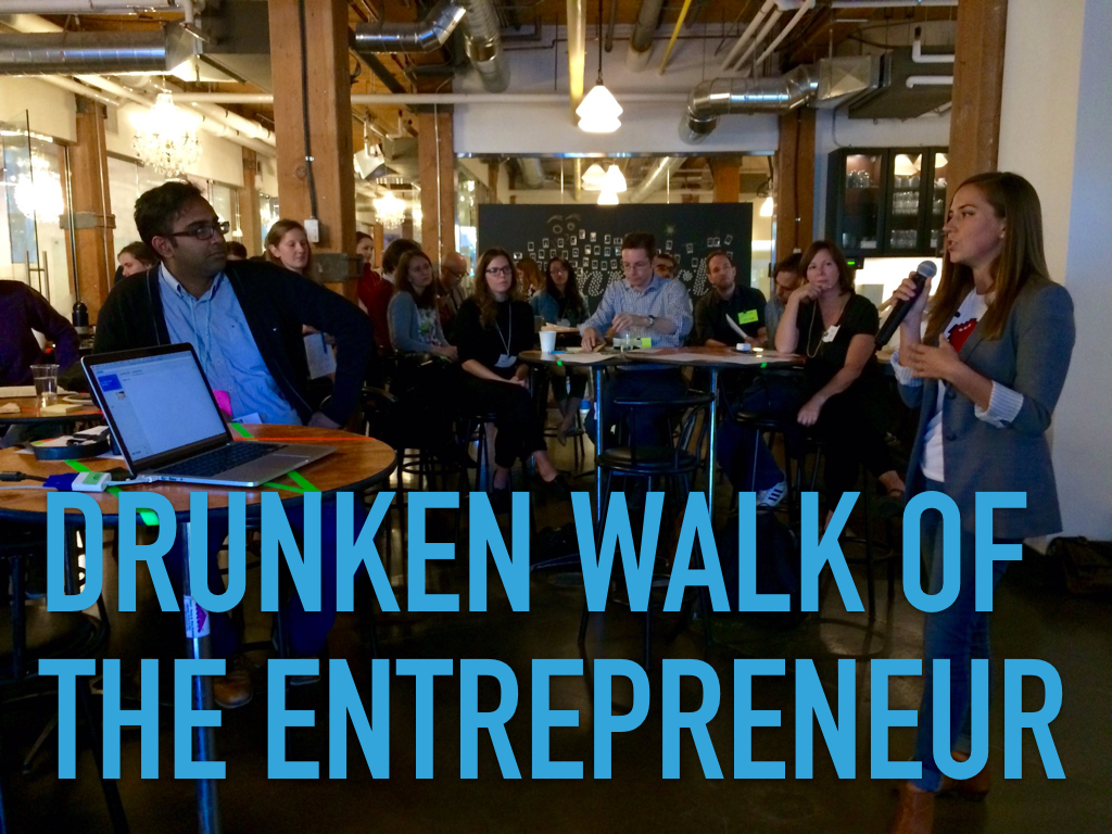 Drunken walk of the entrepreneur