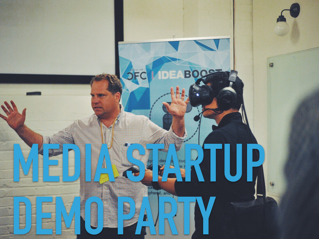 Media startup demo party